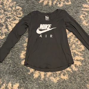 Grey long sleeve shirt from Nike! Tags still on!!